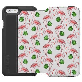 Flamingos Dance White Pattern Incipio Watson™ iPhone 6 Wallet Case