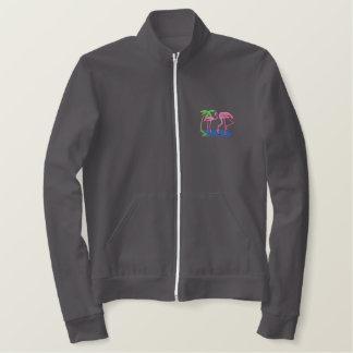 Flamingos Embroidered Jacket
