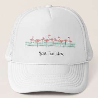 Flamingos group 'Text' trucker hat