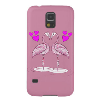 Flamingos in Love Galaxy S5 Cases