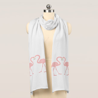 Flamingos in Love Scarf