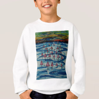 Flamingos in salty lake sweatshirt