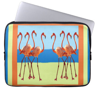 "Flamingos in Sand & Sun 13"" Laptop Sleeve"