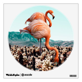 Flamingos In The Desert Wall Decal