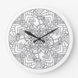 Flamingos Large Clock