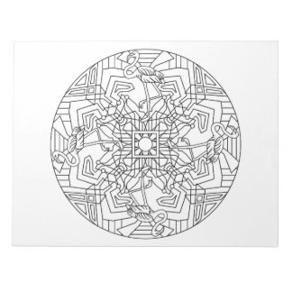 Flamingos Mandala Coloring Book Pad