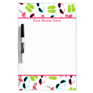 Flamingos Personalized Medium Dry Erase Board