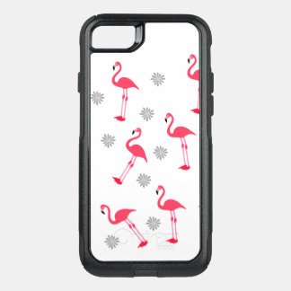 flamingos pink and white design on cases