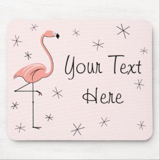 """Flamingos Pink """"Your Text"""" mousepad"""