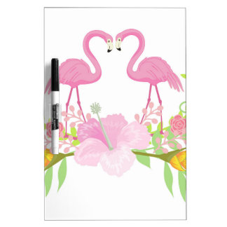 Flamingos TROPICAL Dry Erase Board