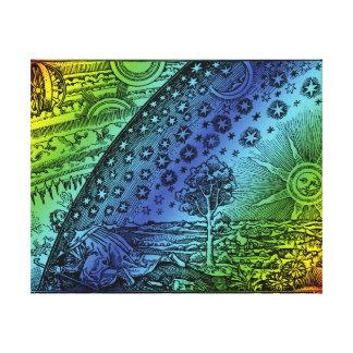 Flammarion Heaven and Earth Engraving Artwork Canvas Print