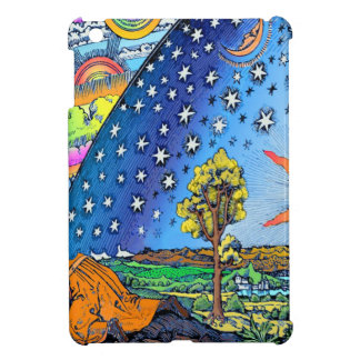 Flammarion Woodcut Flat Earth Design Square COLOR Cover For The iPad Mini
