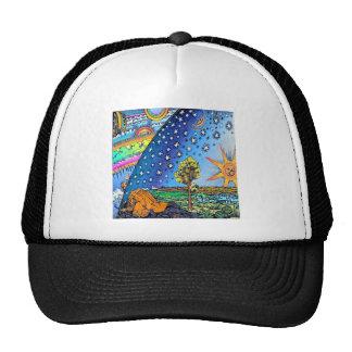 Flammarion Woodcut Flat Earth Design Square COLOR Trucker Hat