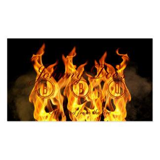 Flammes de BBQ Carte De Visite Standard