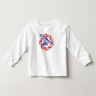 Flammes et requin t-shirt pour les tous petits