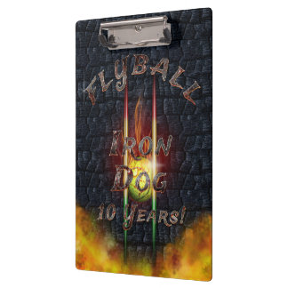 Flamz Flyball Iron Dog - 10 years of competition! Clipboards