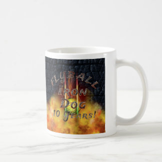 Flamz Flyball Iron Dog - 10 years of competition! Coffee Mug