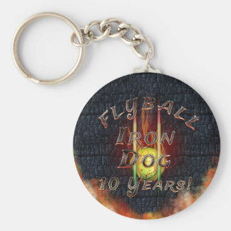 Flamz Flyball Iron Dog - 10 years of competition! Keychain