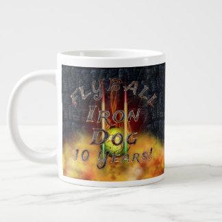 Flamz Flyball Iron Dog - 10 years of competition! Large Coffee Mug