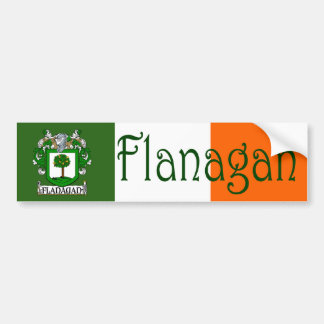 Flanagan Coat of Arms Flag Bumper Sticker