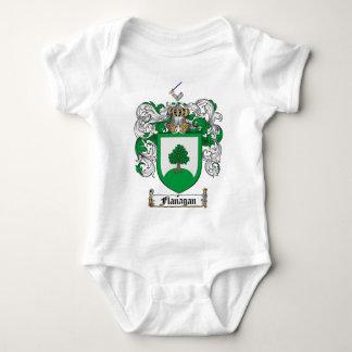 FLANAGAN FAMILY CREST -  FLANAGAN COAT OF ARMS BABY BODYSUIT