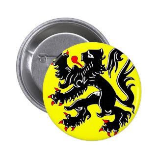 Flanders, Belgium flag 2 Inch Round Button