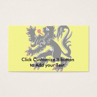 Flanders, Belgium flag Business Card