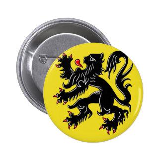 Flanders (Belgium) Flag Pinback Button