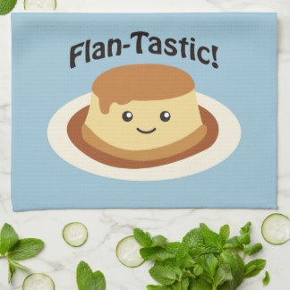 Flantastic! Cute flan Kitchen Towel