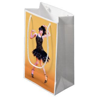 flapper16_orange_pod small gift bag