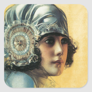 Flapper Beauty Square Sticker