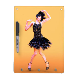 Flapper Dancing Dry Erase Board