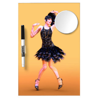 Flapper Dancing Dry Erase Board With Mirror