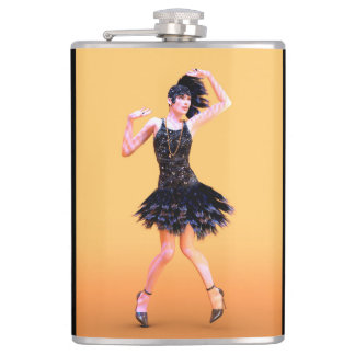 Flapper Dancing Hip Flask