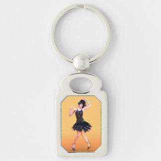 Flapper Dancing Keychain