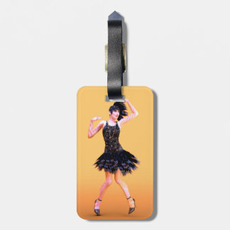 Flapper Dancing Luggage Tag