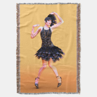 Flapper Dancing Throw Blanket