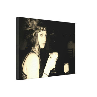 Flapper Girl Canvas Print
