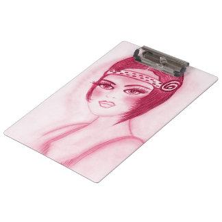 Flapper Girl In Red Clipboard
