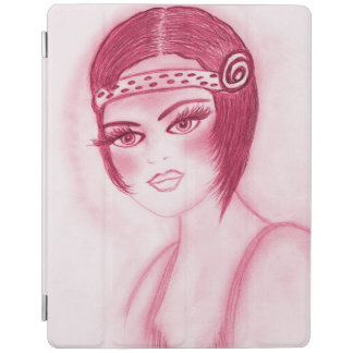 Flapper Girl In Red iPad Cover