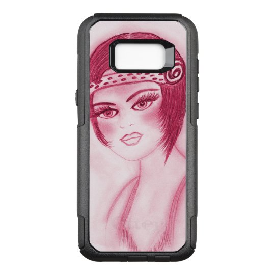 Flapper Girl In Red OtterBox Commuter Samsung Galaxy S8+ Case