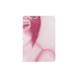 Flapper Girl In Red Passport Holder