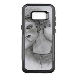 Flapper Girl With Bow OtterBox Commuter Samsung Galaxy S8+ Case