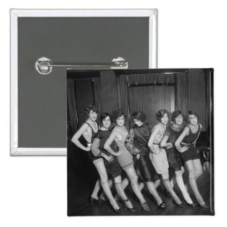 Flapper Girls: 1925 2 Inch Square Button