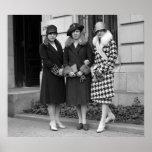 Flapper Girls, Cloche Hats 1920s Poster