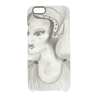 Flapper in Feathers Clear iPhone 6/6S Case