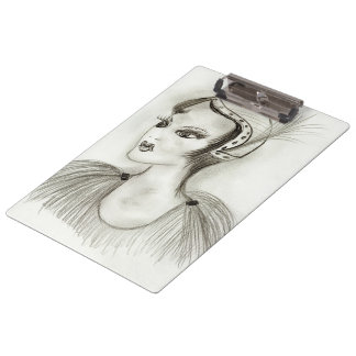 Flapper in Feathers Clipboard