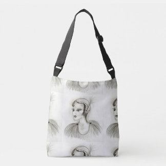 Flapper in Feathers Crossbody Bag
