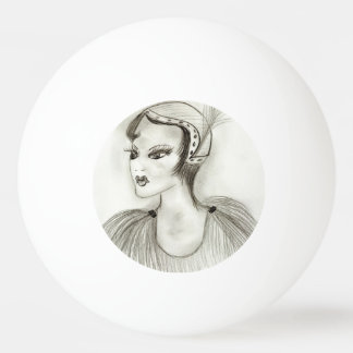 Flapper in Feathers Ping Pong Ball
