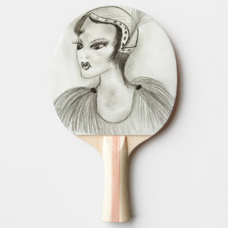 Flapper in Feathers Ping Pong Paddle